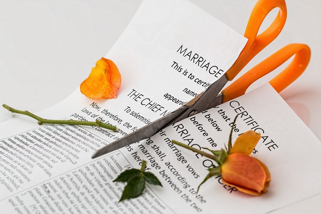 Divorce means you are dividing assets
